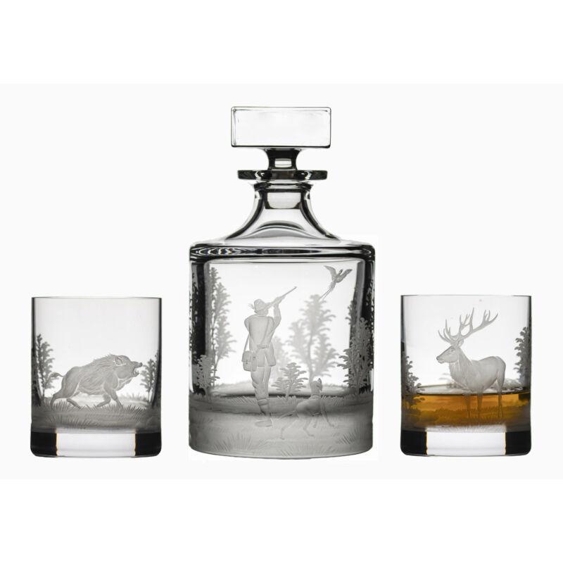 Whisky palack 2 pohárral - készlet