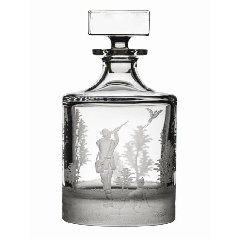 Whisky palack vadász jelenettel