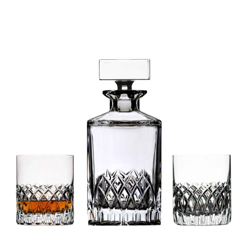 Whiskys üveg két pohárral - Solaris