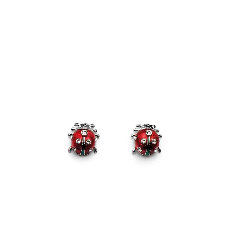 Fülbevaló Ladybug mini rhod. crystal